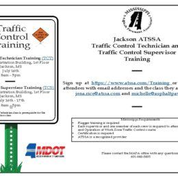 Jackson ATSSA Traffic Control Technician and Traffic Control Supervisor