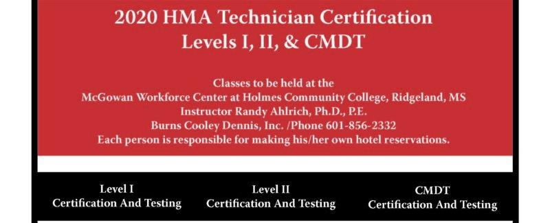 2020 HMA Technician Certification