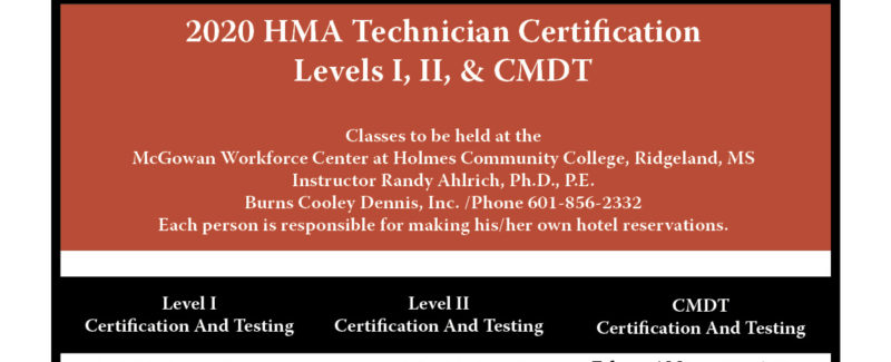 2020 HMA Technician Certification