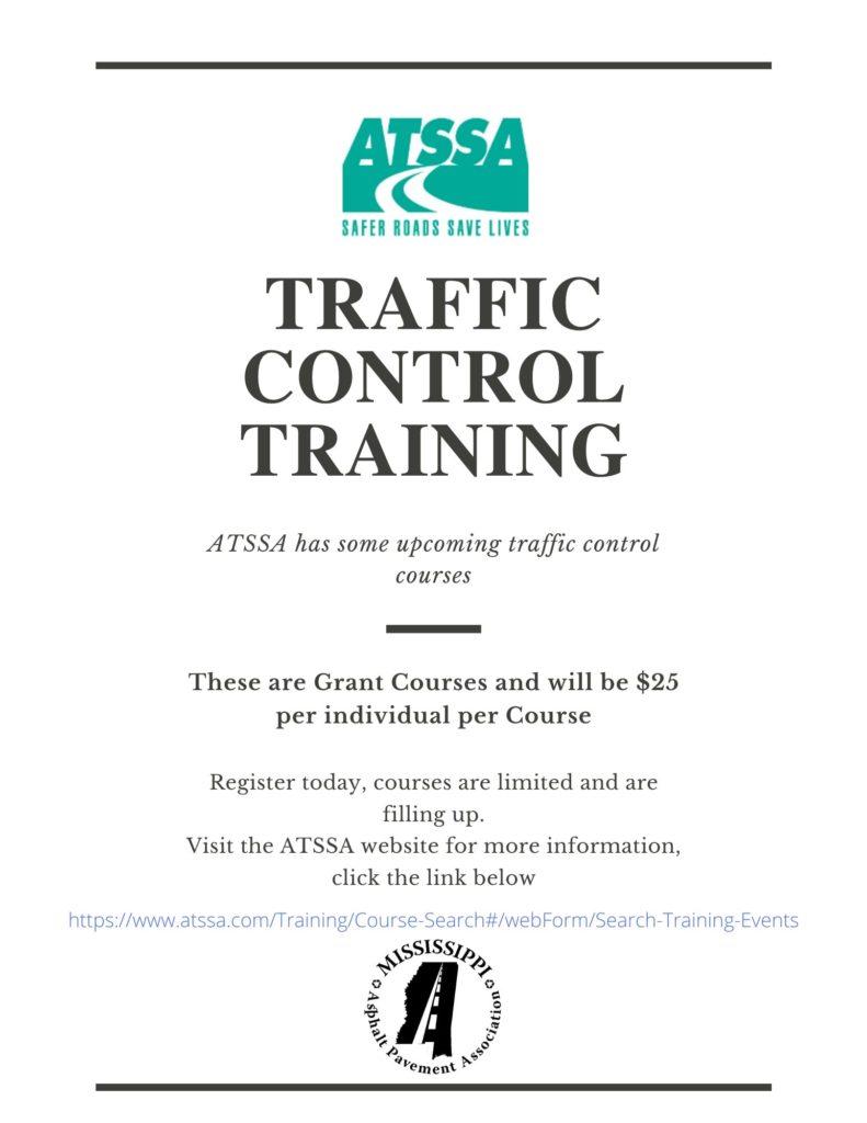ATSSA Upcoming Traffic Control Training