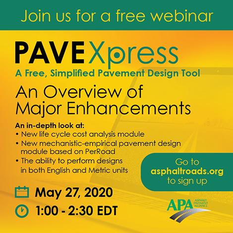 APA – PAVEXpress Webinar